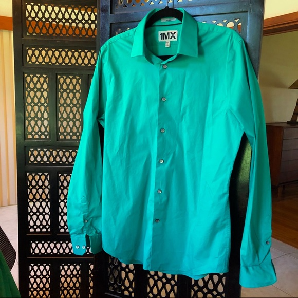 Express Other - Express fitted long sleeve green shirt